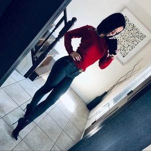 BNWT saint Laurent red sweater size XS / S